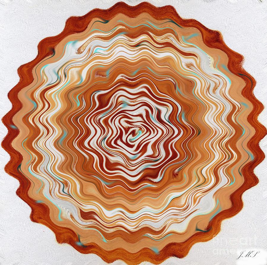 Digital Mandala 21 by Julia Stubbe