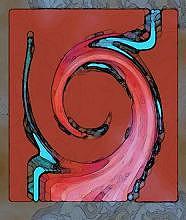 Digital Original Abstract 4 Painting by Mohammad Safavi naini