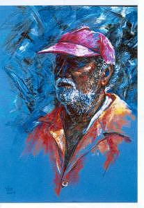 Portrait Painting - Dignity In His Labour by Tina Siddiqui