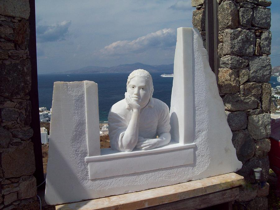 Marble Sculpture - Dilema by Andrew Wielawski