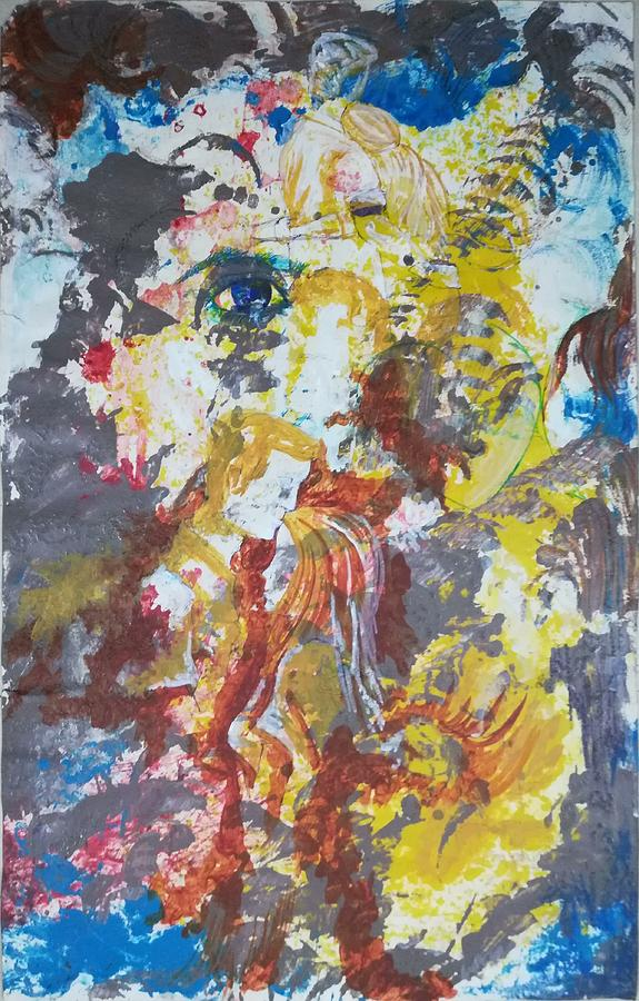 Emotions Painting - Dilemma by Vikas Kumar sah