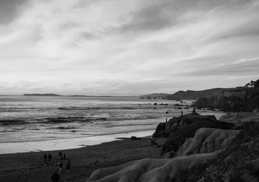 Dillon Beach Sunset Black And White Photograph By Sierra Vance