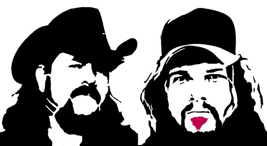 Dimebag Darrell Digital Art - Dimebag And Vinnie Paul by Michael Bergman