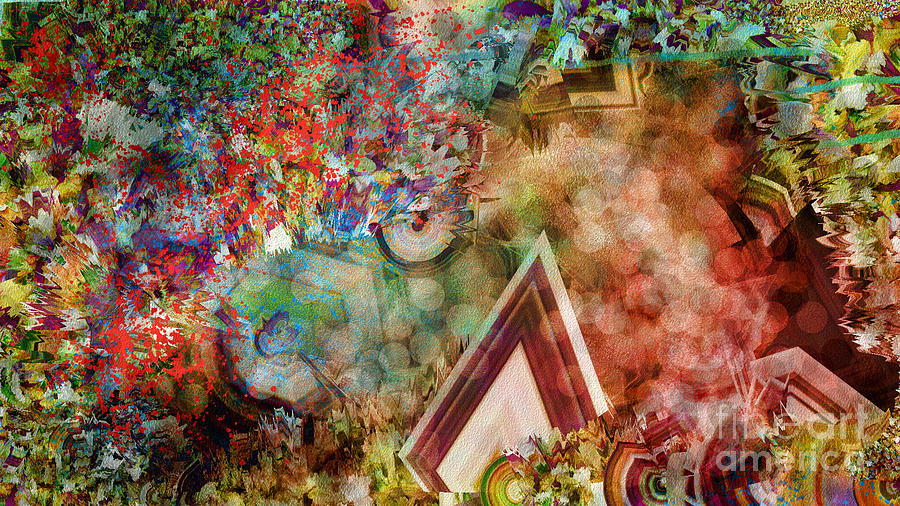 Abstract Digital Art - Dimensional Journey by Sydne Archambault