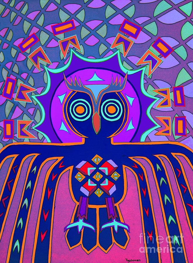 Owl Painting - Dimensional Owl by Ed Tajchman