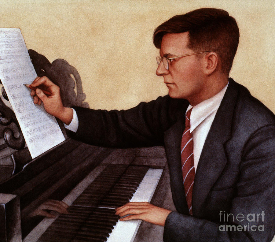 20th Century Photograph - Dimitri Shostakovich by Granger