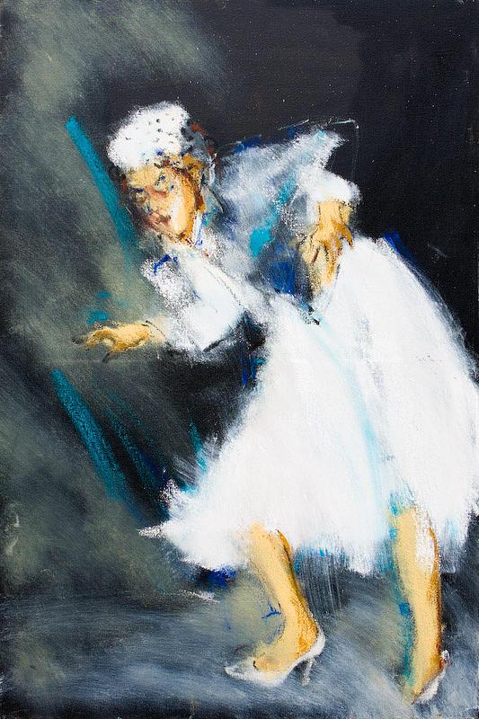 Jazz Painting - Dinah Washington by William  Glass