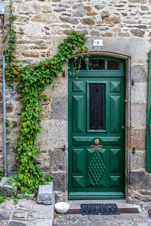 Aged Photograph - Dinan Door Number 3 by W Chris Fooshee