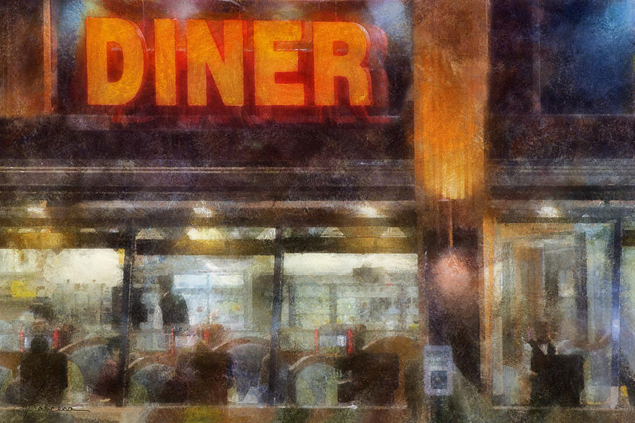 Diner Restaurant Eat Eatery Dine Dining Gather Supper Dinner Digital Art - Diner by Francesa Miller