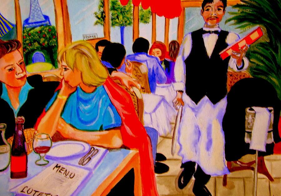 Paris Sculpture - Diners At La Lutetia by Rusty Gladdish