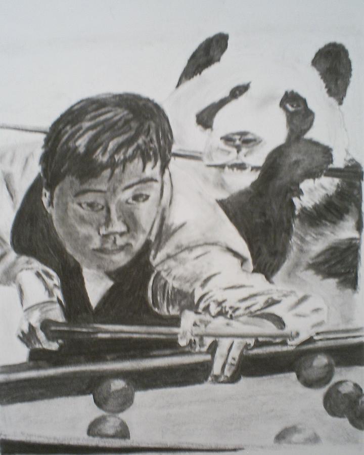 Snooker Drawing - Ding Junhui Snooker by James Dolan