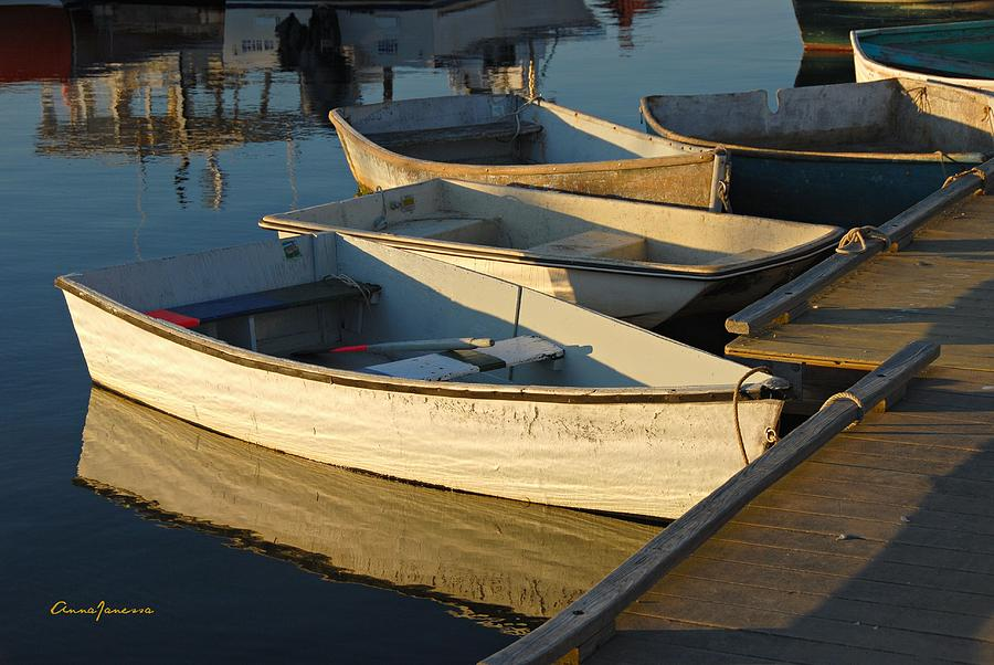 Dinghies in Sepia by AnnaJanessa PhotoArt