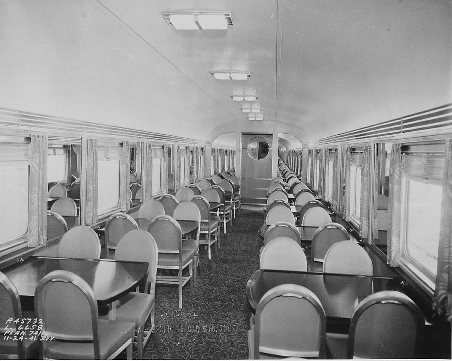 Passenger Cars Photograph - Dining Car Interior by Chicago and North Western Historical Society
