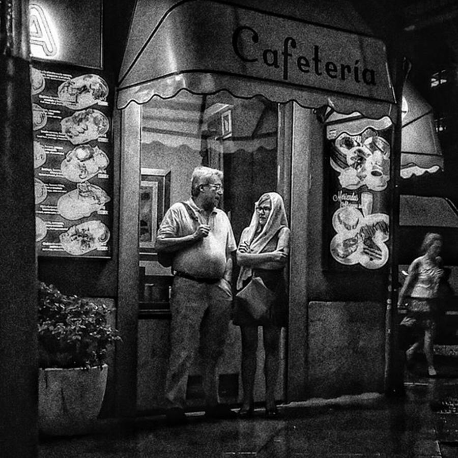 Citylife Photograph - Dining In The Rain  #people by Rafa Rivas