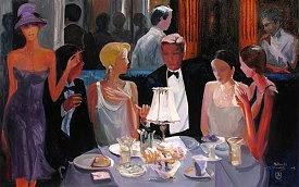 Dinner Painting - Dining Out by Avtandil