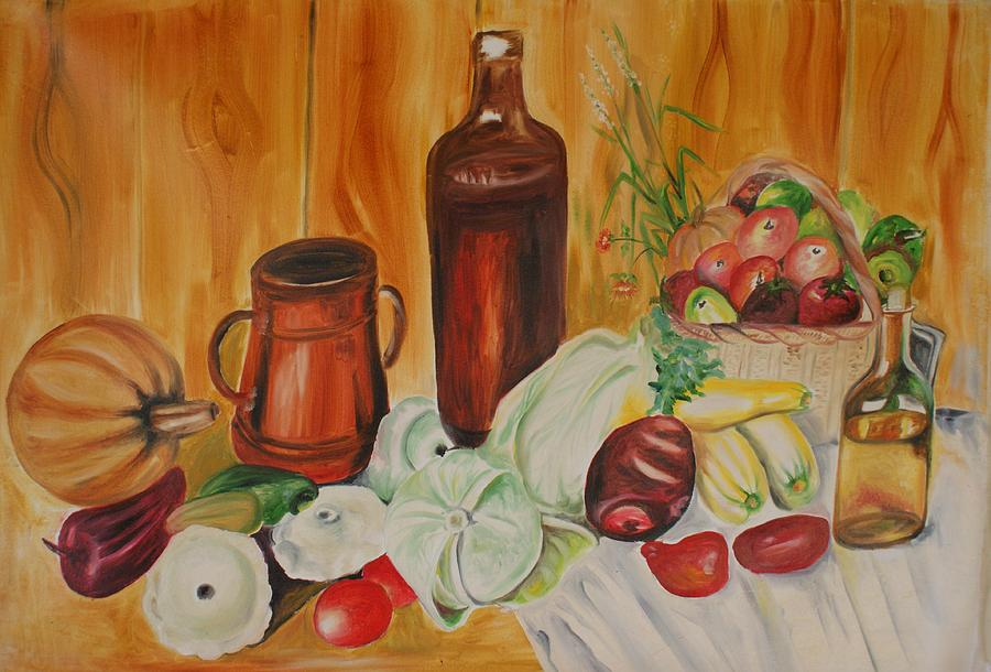 Kitchen Painting - Dining Room Art by Mita Pradhan