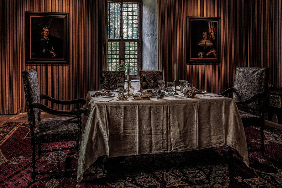 Dining Room In Castle Doorwerth Photograph