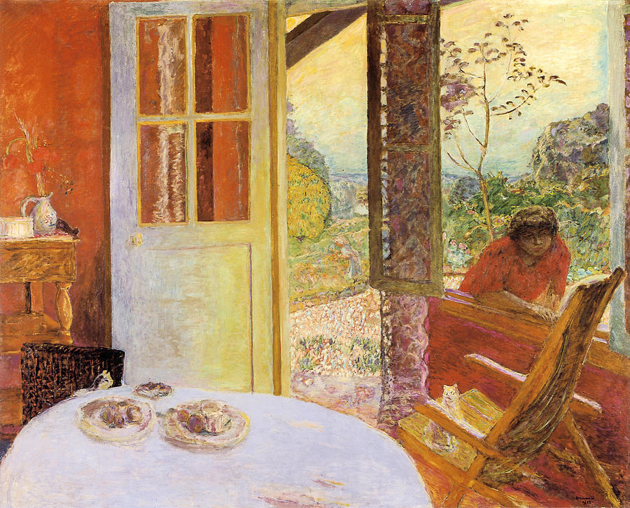 Dining room in the country painting by pierre bonnard for Large paintings for dining room