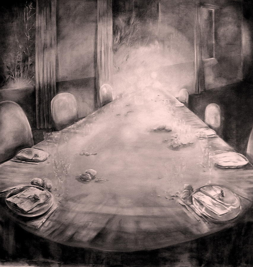 Still Life Painting - Dining Room by Maddalena Mauri
