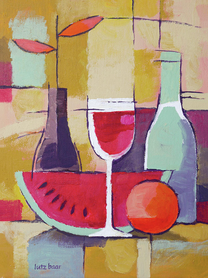 Charmant Dining Painting   Dining Still Life Painting By Lutz Baar