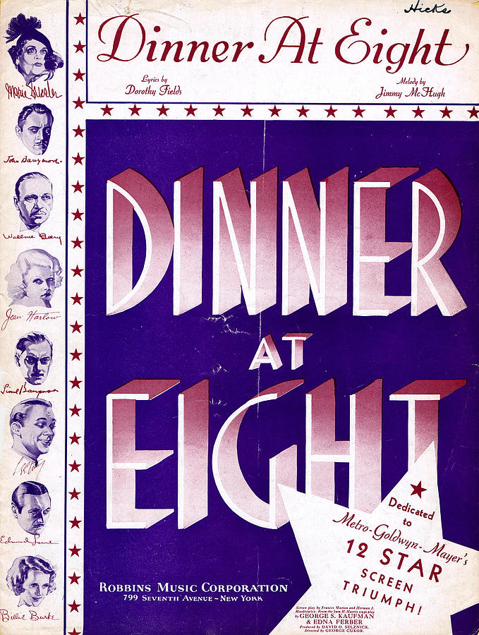 Classic Photograph - Dinner At Eight by Mel Thompson