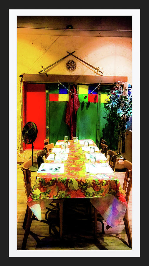 Mediterranean Photograph - Dinner For Eight by Shirley Anderson