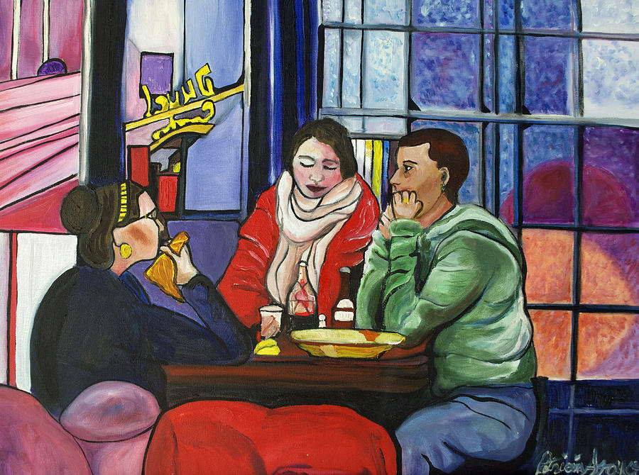 People Painting - Dinner In Dam by Patricia Arroyo