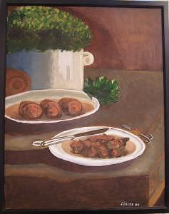 Dinner Table Painting by Frank Sharp