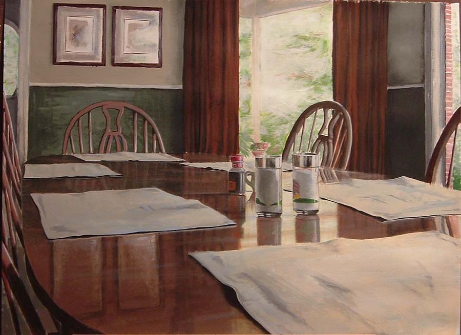 Dinner Painting - Dinner Table by Scott Lyle
