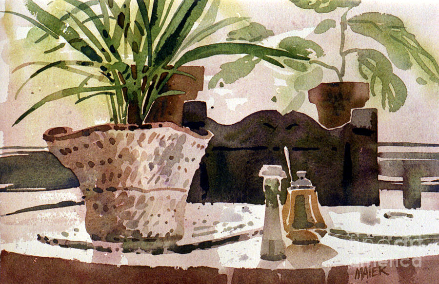 Still Life Painting - Dinning Room Table by Donald Maier