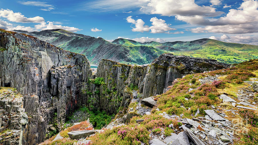 Dinorwic Photograph - Dinorwic Slate Quarry Snowdon by Adrian Evans