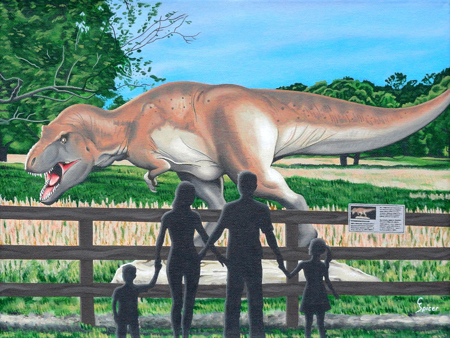 Dinosaur Painting - Dinosaur Country by Christopher Spicer