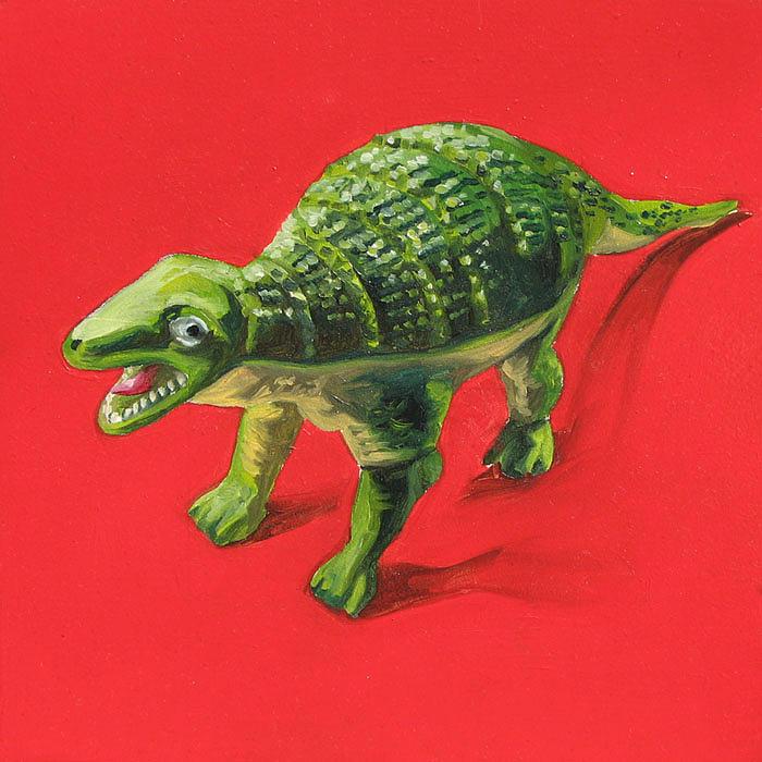 Dinosaur Painting - Dinosaur by Lucia Rodriguez
