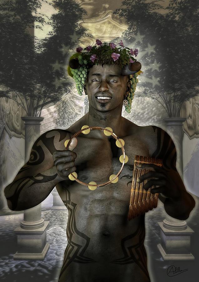 Dionysus god of grape Digital Art by Quim Abella  Dionysus Drawing