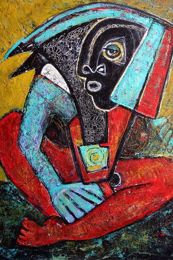 Modern Painting - Diosa Negra by Ci Ci Segura Gonzalez