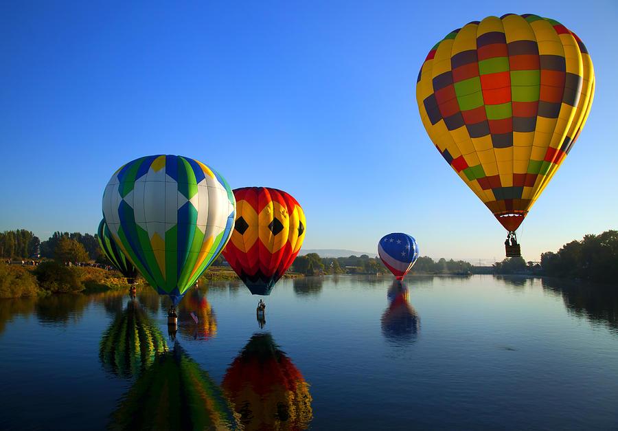 Balloon Photograph - Dip And Go by Mike  Dawson