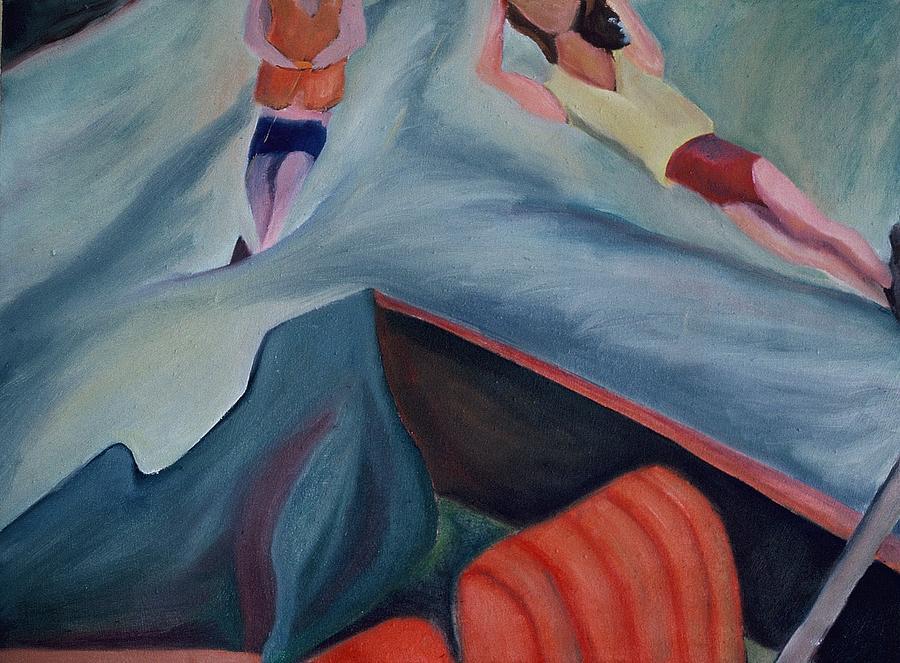 Boating Painting - Diptic 2 by Karen Thompson
