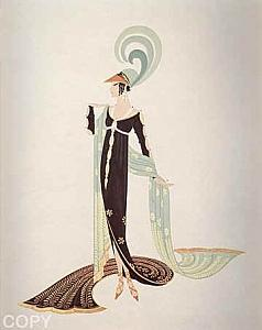Directoire Painting by Erte