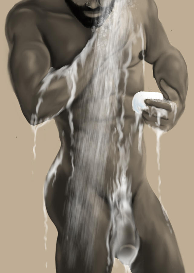 Gay Painting - Dirty 03 by Bad Robin