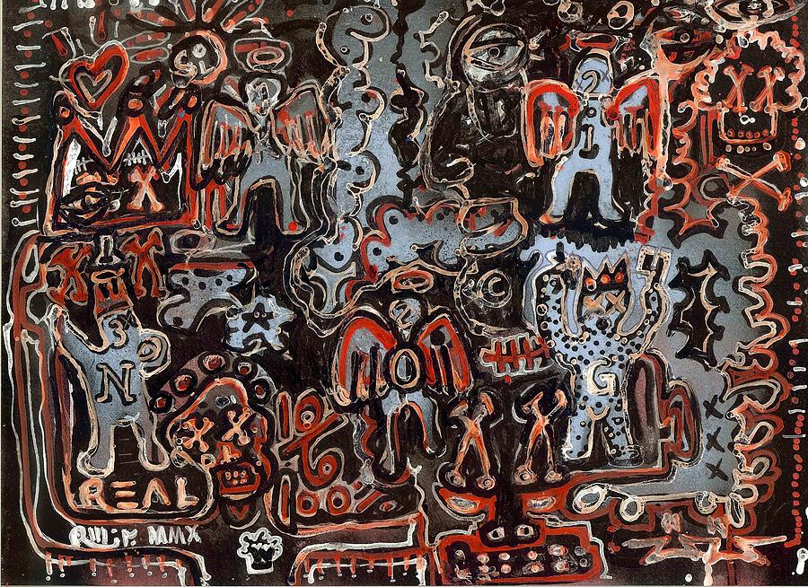 Neo-expressionism Painting - Dirty Bit by Robert Wolverton Jr