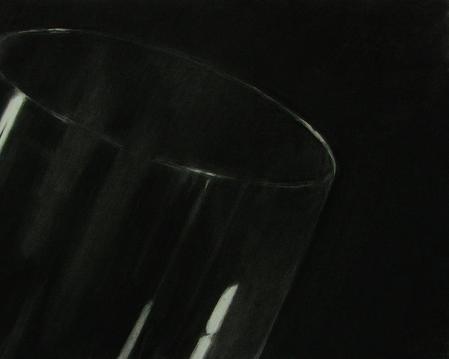 Glass Drawing - Dirty Glass by Benjamin Proulx