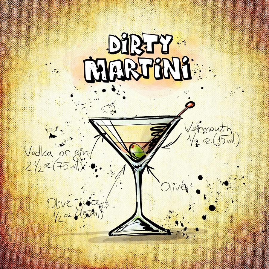 Dirty Martini Digital Art by Movie Poster Prints