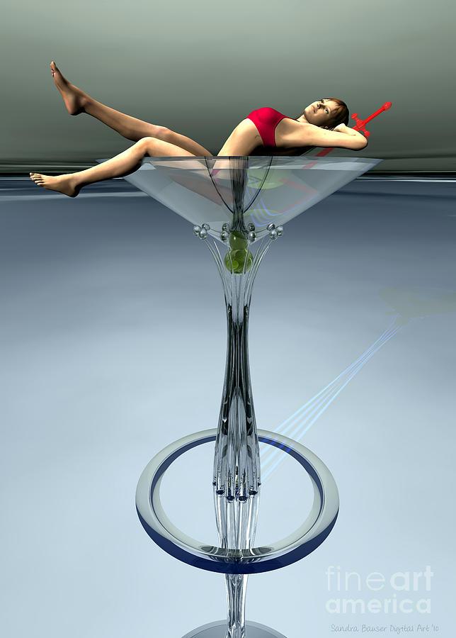 3d Digital Art - Dirty Martini by Sandra Bauser Digital Art
