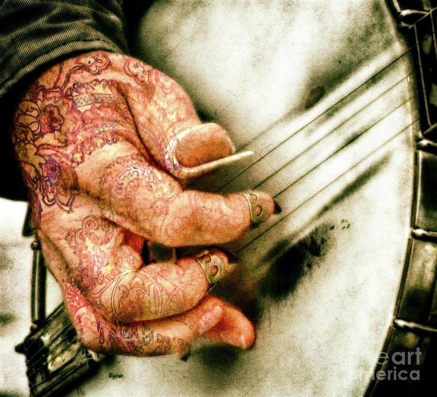 Banjo Photograph - Dirty Picking  by Steven Digman