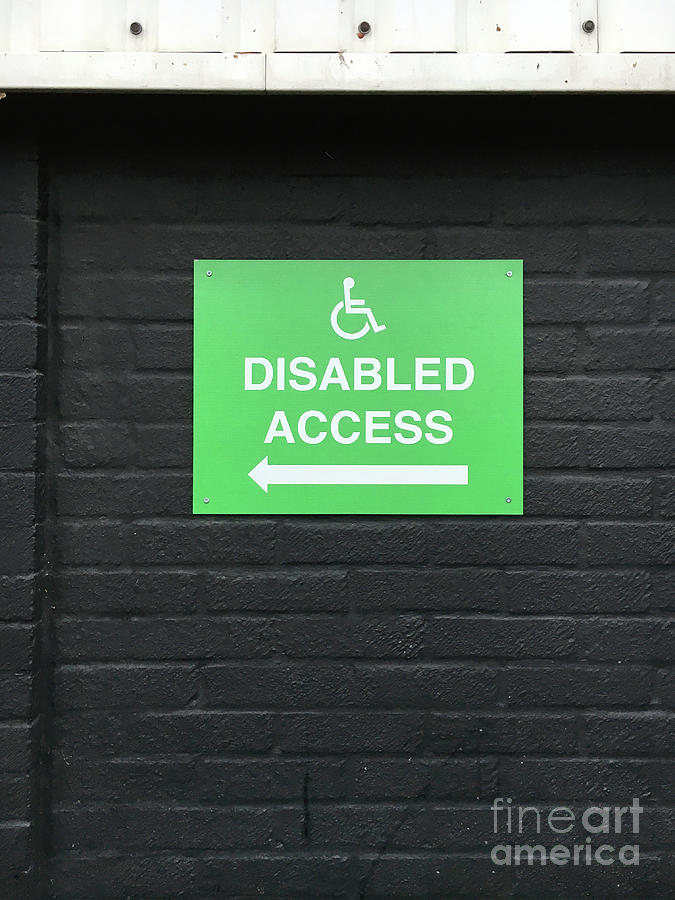 Accessibility Photograph - Disabled Access Sign by Tom Gowanlock