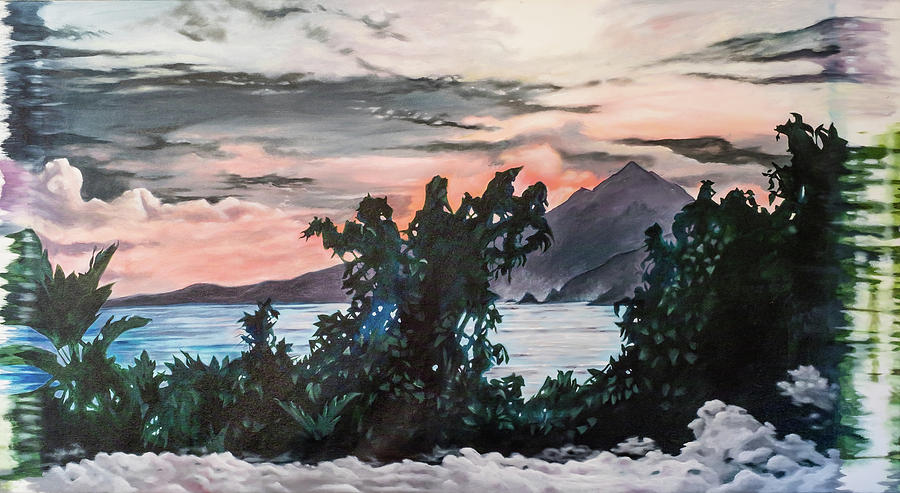 Seascape Painting - Disapearing Landscape #1 by Darren Mulvenna