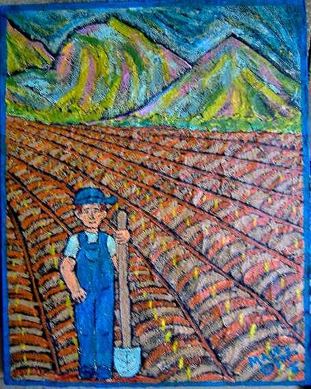 Farm Painting - Disappearin Commodity by Maw Bear -Kimberly Webber Young