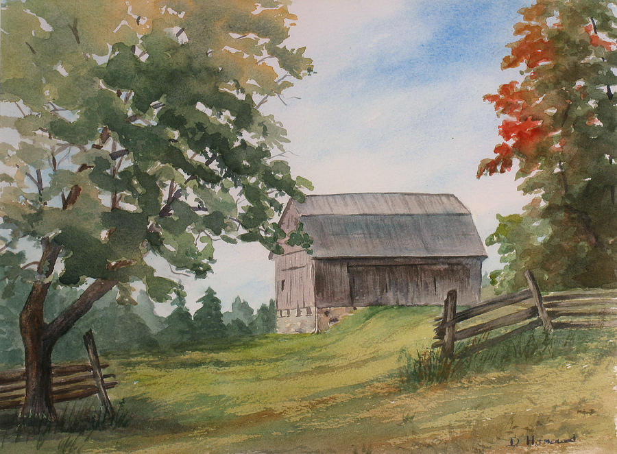 Barn Painting - Disappearing Heritage by Debbie Homewood