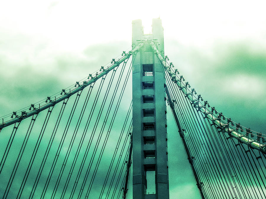 Bay Bridge Photograph - Disappearing by Marnie Patchett