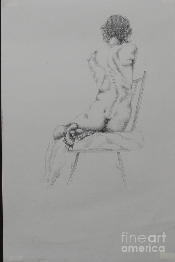 Women Drawing - Disappointed by Kathleen Keller